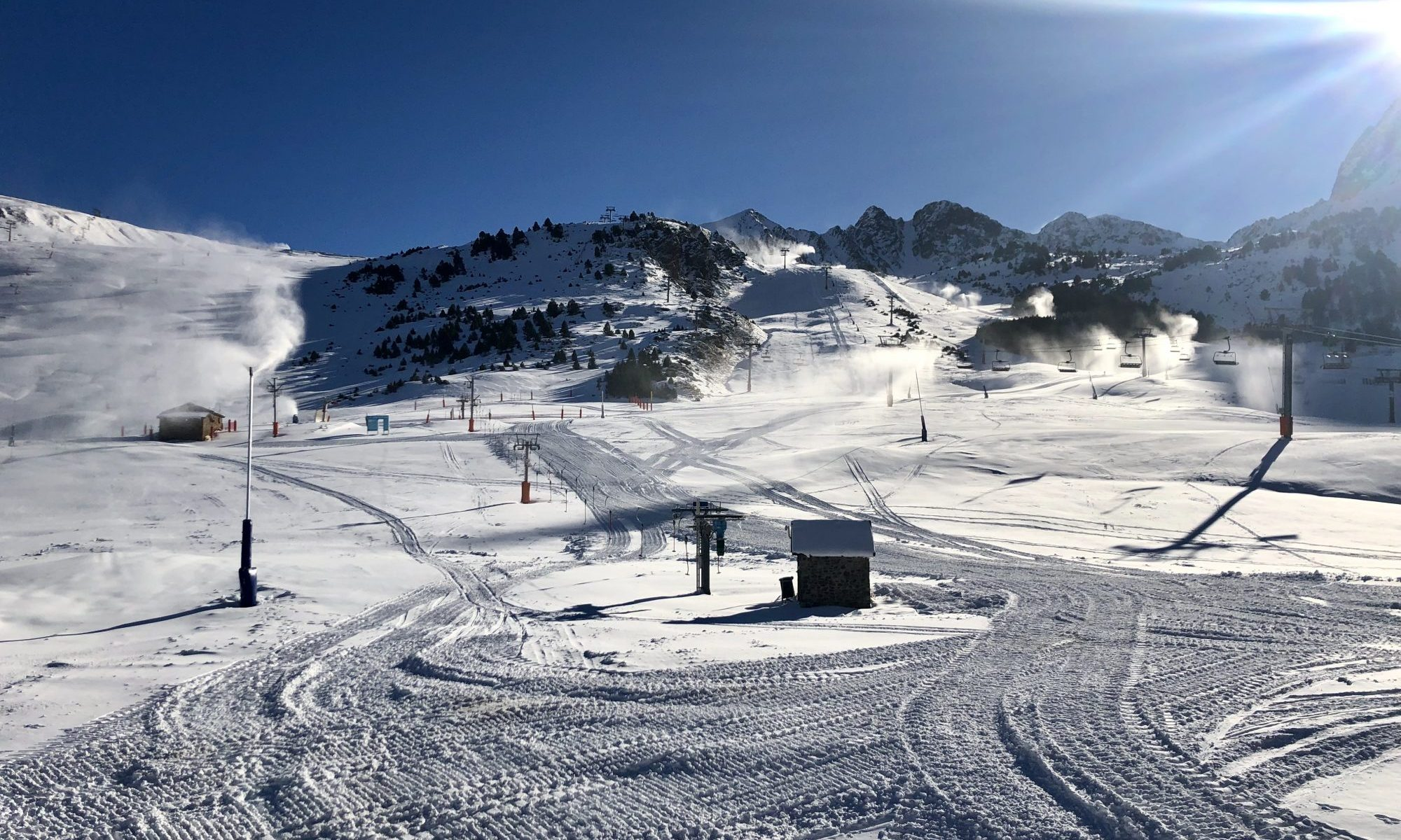 Sector Grau Roig. Grandvalira kick-starts the season this Saturday 1st of December with the partial opening of the Pas de la Casa and Grau Roig sectors.Photo: Grandvalira.