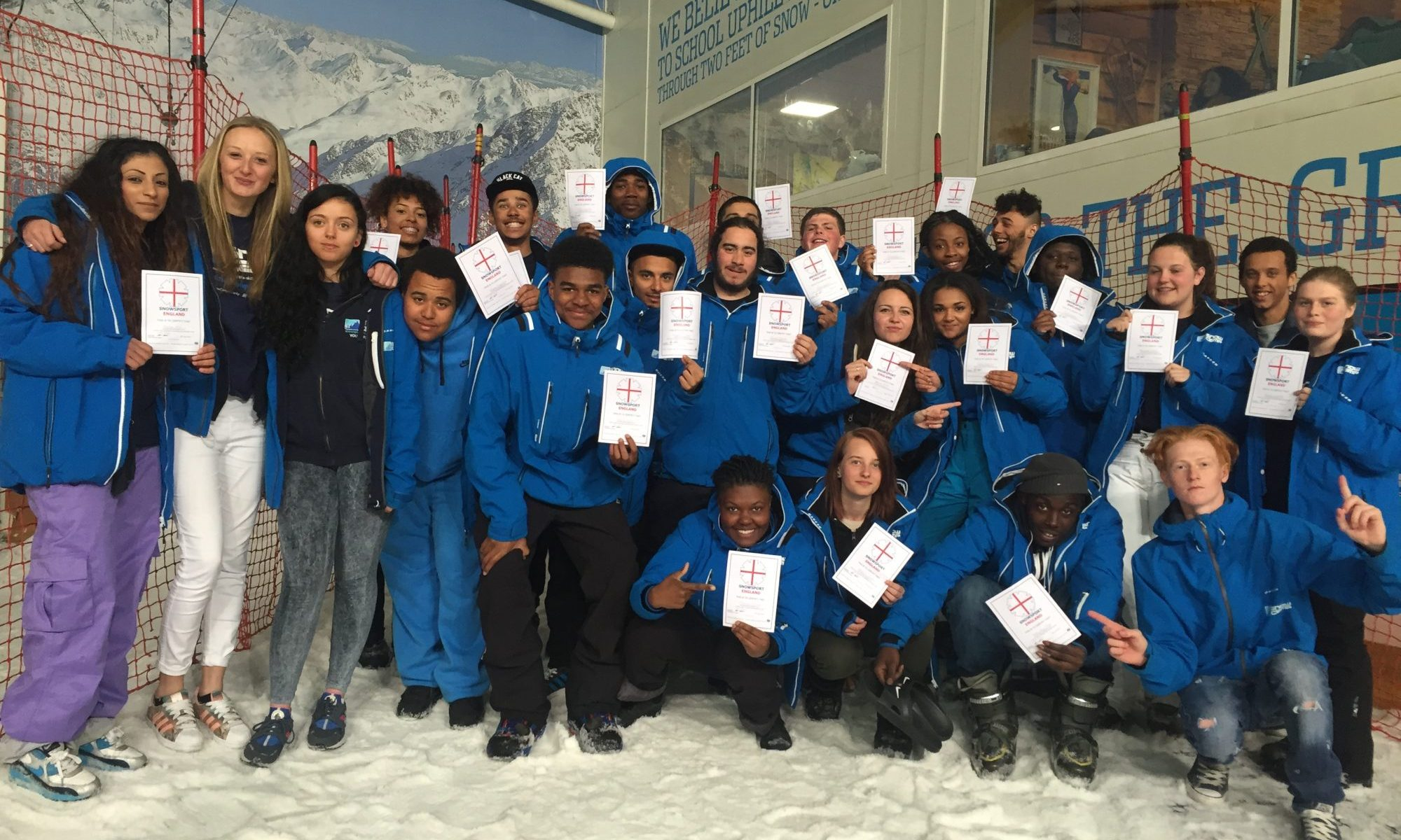 Skiworld has raised a massive £50,000 to Snow-Camp, a snow sports charity in the UK. Photo: Snow-Camp/Skiworld.