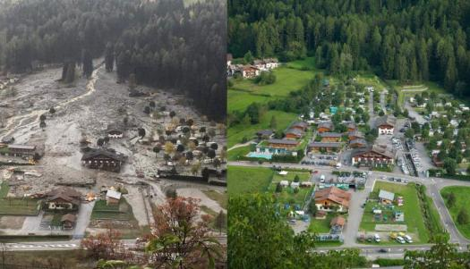Dimaro- Camping before and after. Gales and tide surges wreak havoc in all of Italy, killing at least 10. What is the situation in Trentino