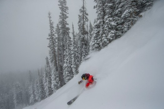 1st December on Aspen Mountain. Photo: Aspen Snowmass. 20 Inches of New Snow at Aspen Snowmass in the Last Seven Days.