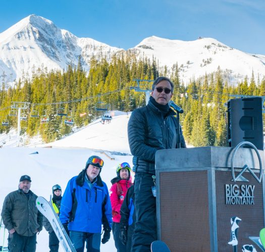Photo; Ed Coyle. Big Sky Resort. World's Most Technologically-Advanced Chairlift Debuted at Big Sky Resort.
