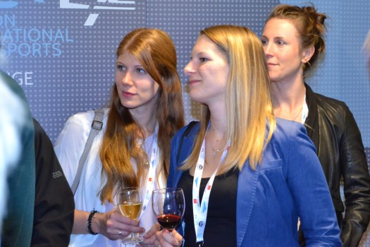 The Austrian representatives of firm CheckYeti listening to the Forum at Listex. Listex's State of the UK Snowsports Market Report 2018.