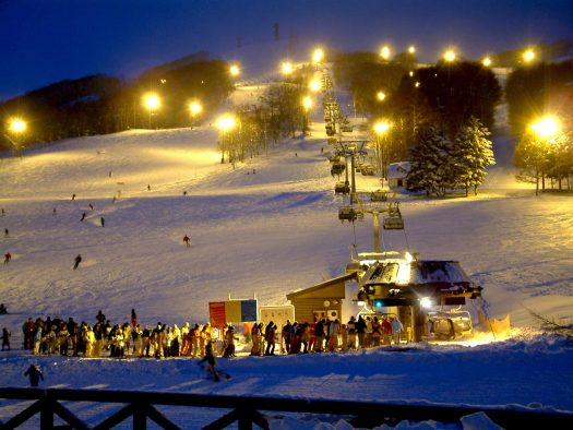 Night skiing at Rusutsu. Rusutsu, the Japanese Resort joins the EPIC Pass for the 2019-20 ski season.