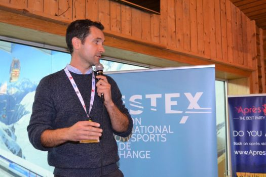 A panelist talks at the Listex Forum. Listex's State of the UK Snowsports Market Report 2018