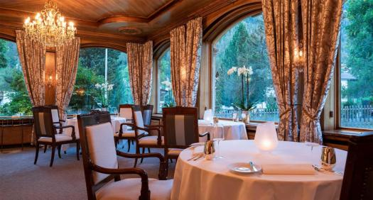 The Prato Borni restaurant at the Zermatterhof. A gas explosion has taken place Friday at the Grand Hotel Zermatterhof.
