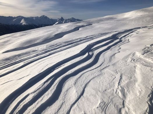 Avalanche - KWinkler- Davos. Avalanches claimed two lives in Switzerland due to dangerous conditions.