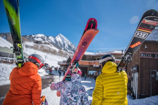 Skiers going to ski - with the Butte in the background. Photo: Trent Bona. Crested Butte Mountain Resort. Crested Butte Mountain Resort Announces Plans to Replace the Teocalli Lift for the 2019-20 Winter Season.