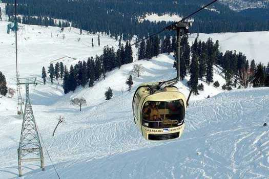 Jammu (Gulmarg) Cable Car Accident: 2 workers died and four injured.