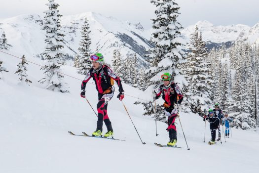 Men's 2nd place. Photo: Aspen Skiing Company. Audi Power of Four Ski Mountaineering Race Mar. 2-3. New United States Ski Mountaineering Association National Championship.