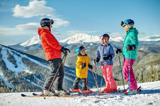 A family takes in the scenery and enjoys a day of skiing in Keystone, CO. Vail Resorts Reports Certain Ski Season Metrics for the Season-to-Date Period Ended April 21, 2019.