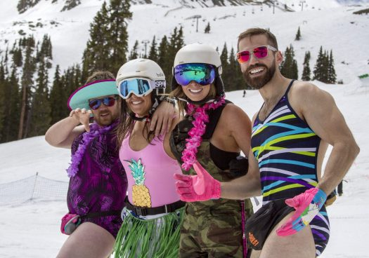 Swimwear Day at Arapahoe Basin- Photo: Curtis De Vore- Arapahoe Basin. A-Basin quits the Epic Pass cash cow due to their lack of parking.