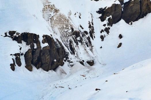 Crans-Montana avalanche claims a life. Photo: Keystone. Anthony Anex. Swissinfo.ch.