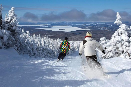 Trails from Saddleback's summit offer sweeping views of the Rangeley Lakes below. Saddleback ski area might get back in business with another new prospective buyer.