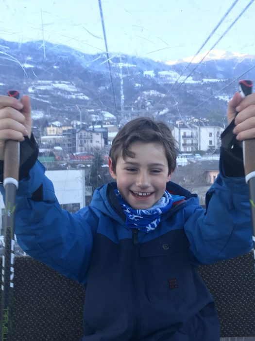 A happy boy in the snow! Photo: The-Ski-Guru. The Half Term Family Ski Holiday that did not result as planned.