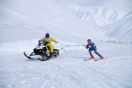Dangerous avalanche conditions are expected ahead of Arctic Man. This was the format that was at the event last year - a skier and a snowmobiler.