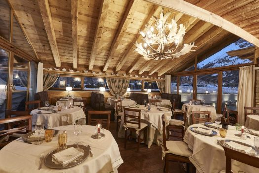 Restaurant of the Gran Baita. Spot on: Gran Baita Hotel – Courmayeur