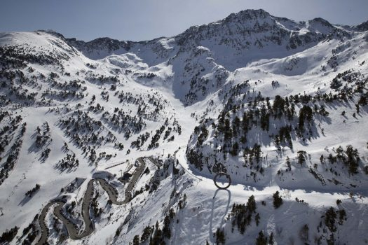 Ordino Arcalis aereal picture. Ordino leaves Vallnord to integrate fully with Grandvalira.