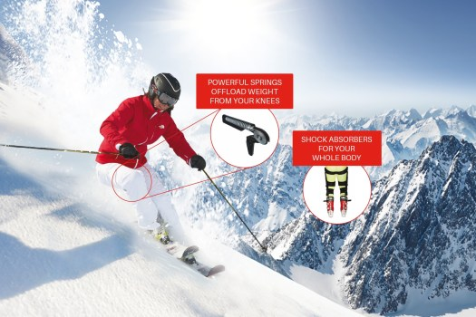 ski~mojo is an exoskeleton for the legs with a comfortable knee support containing powerful springs. Old knees do not need to mean no more skiing!  ski~mojo's review