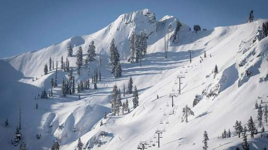 A lovely morning at the KT-22. Squaw Valley Photo: Jason Abraham. Squaw Valley offering $5 passes to ski or ride in June.