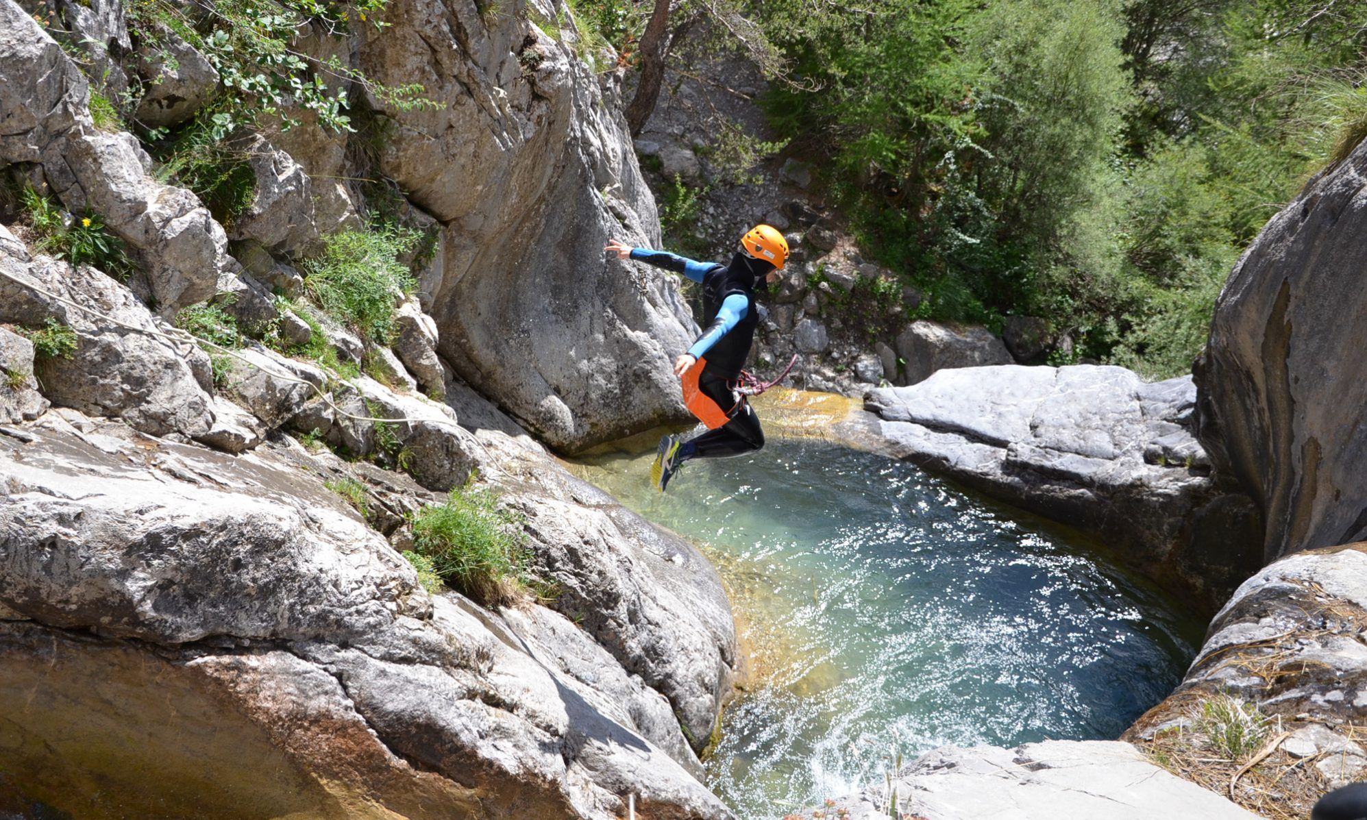 Canyoning in the Alps - Photo: Undiscovered Mountains. The Southern French Alps are the Best Part of the French Alps for Summer Activities.