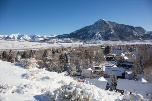 The Butte viewed from town. Crested Butte's Teocalli Lift Replacement Approved by U.S. Forest Service.