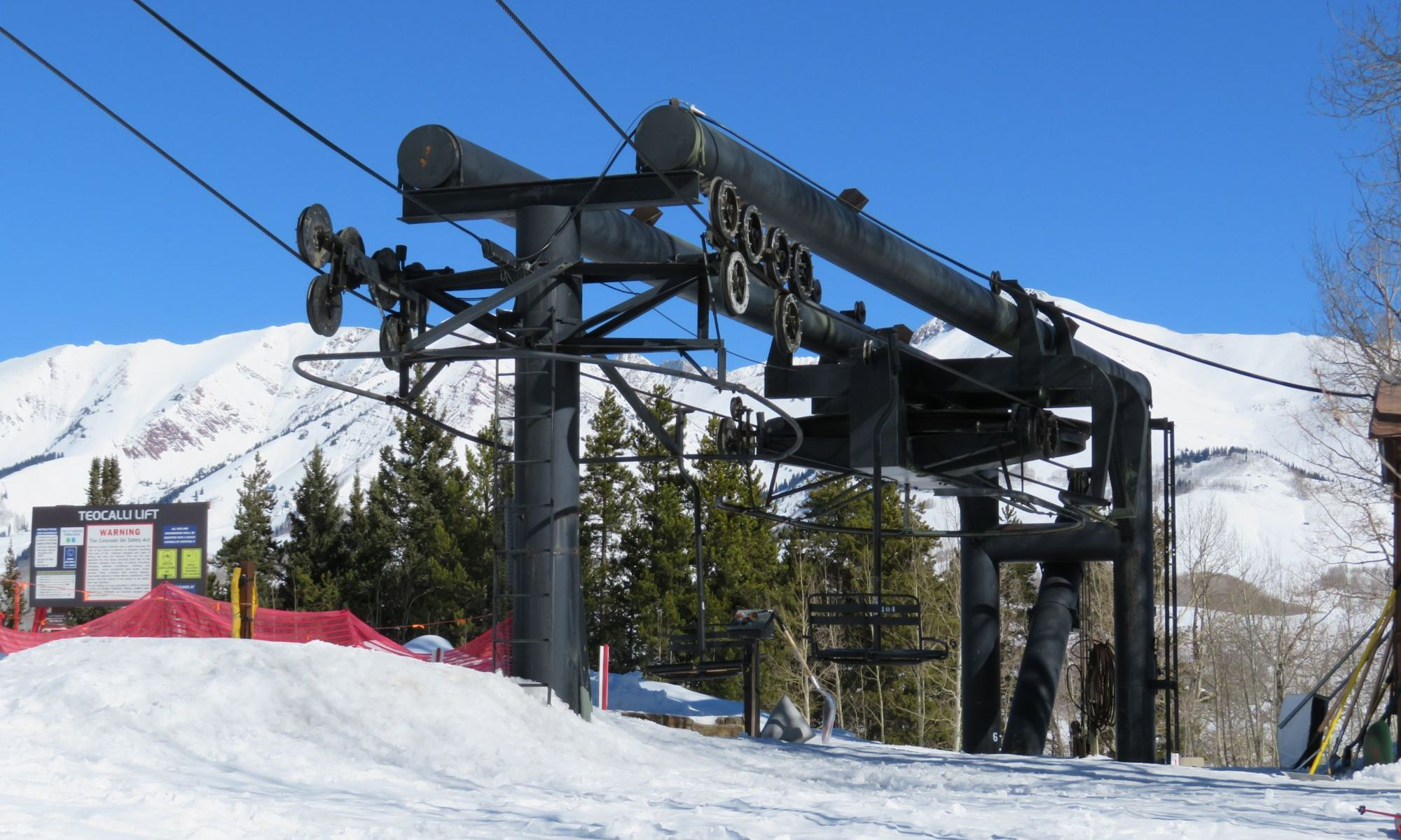 Teocalli lift - Photo: Peter Landsmen- KBUT radio. Crested Butte's Teocalli Lift Replacement Approved by U.S. Forest Service.