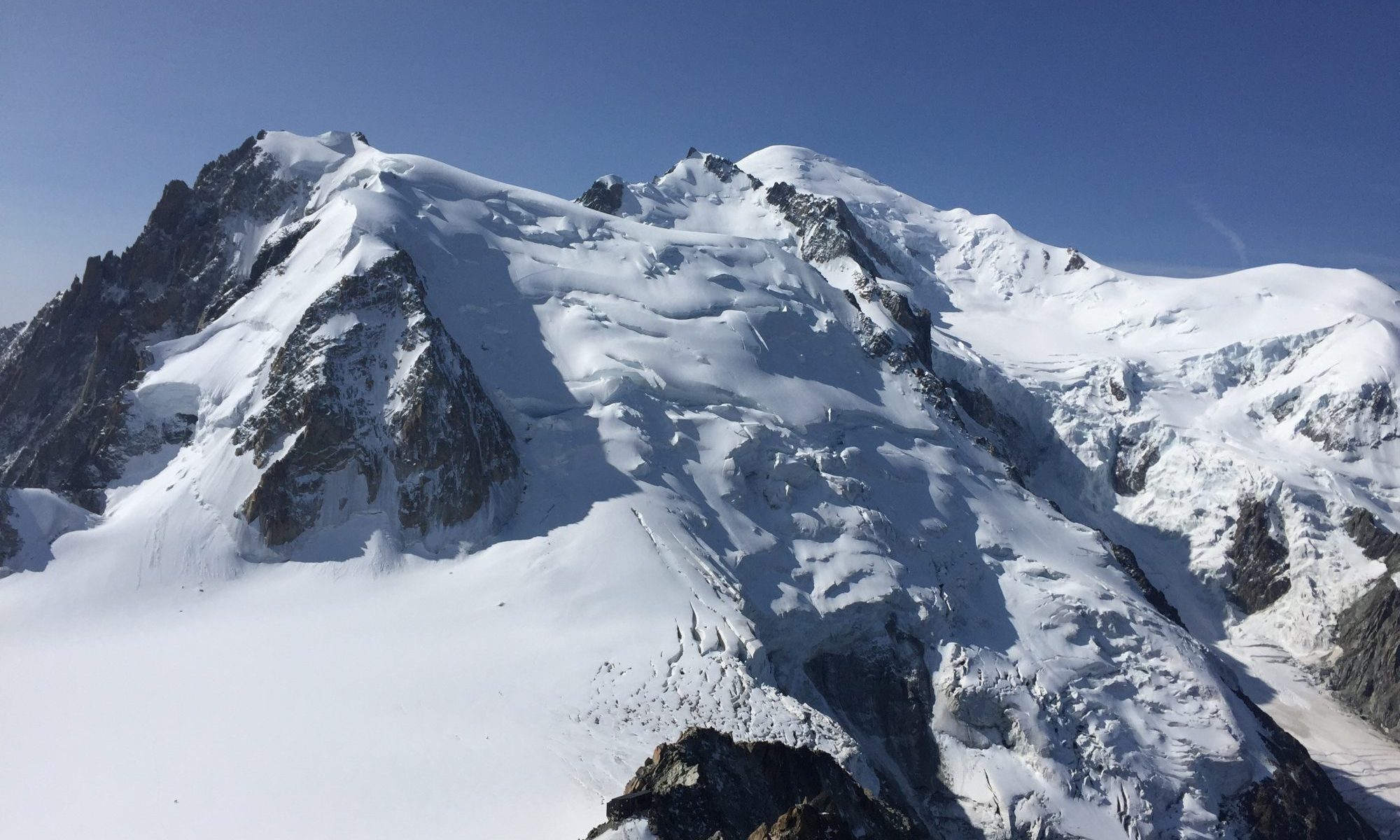 Mont Blanc. Photo: The-Ski-Guru. A Pilot may face punishment after landing on the Mont Blanc.