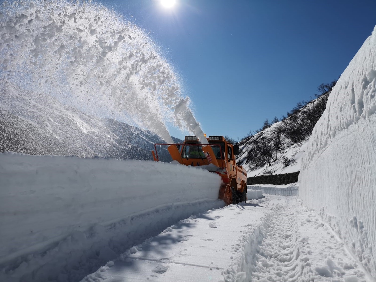 The Gran San Bernardo pass has reopened. Photo: AostaSera