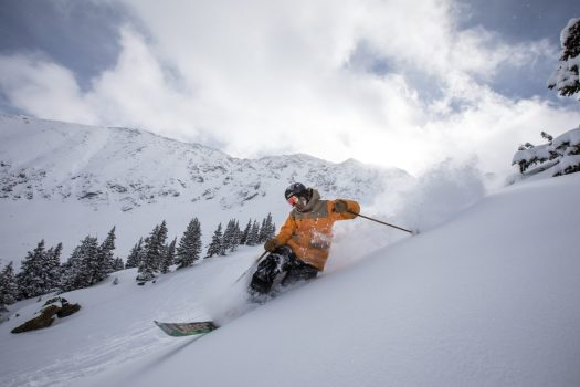 A Basin with powder. Photo: Dave Camara. Arapahoe Basin is now part of the IKON Pass.
