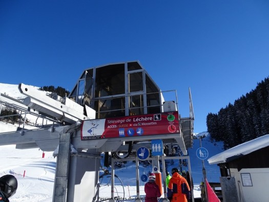 The old departing station of the triple Léchère in Avoriaz. Photo: Avoriaz ski resort. New lifts and piste for Portes du Soleil for the 2019-20 ski season.