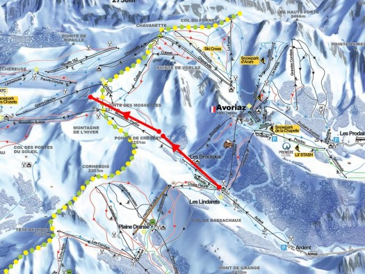 Situation of the two lifts. Remontees Mecaniques Forum. New lifts and piste for Portes du Soleil for the 2019-20 ski season.