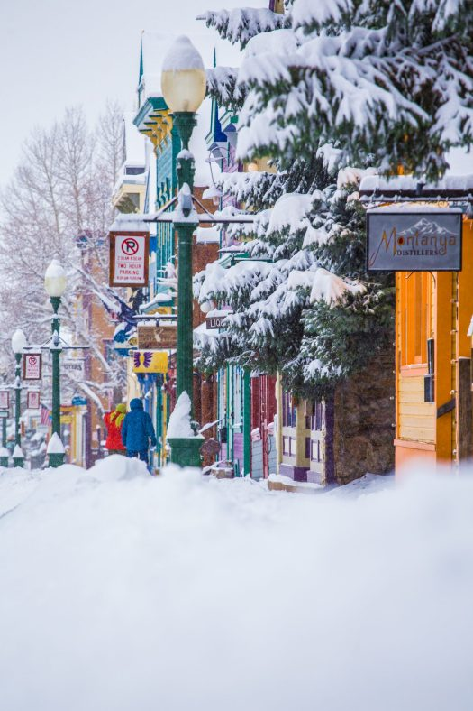 The town of Crested Butte is a mere 3 miles away from Mt Crested Butte, where the ski resort is located. Photo: C.Segal/CBMR. Final Record of Decision Published for Teocalli Drainage Expansion Project.