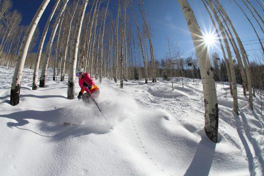 Photo: Casey Day, Skier: Tamara Jacobi, Location: Powderhorn. Photo: CSCUSA. Colorado Ski Country USA Announces Double Digit Increase in Skier Visits in 2018-19 Season.