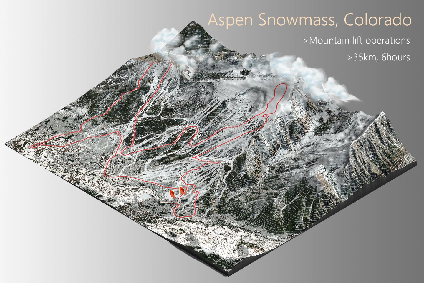 Taiga - Aspen's route. Photo by Taiga Motors. Aspen Skiing Company Announces New Partnership with Taiga Motors