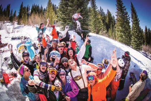 Crowd in Crested Butte. Stock photo. Trent Bona, CBMR. The COVID-19 and the domino effect closing ski resorts.