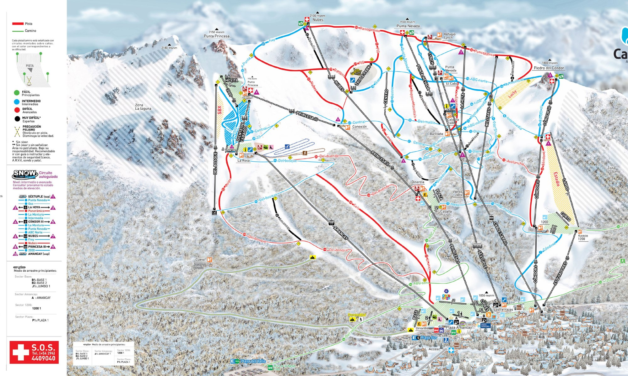 Catedral Alta Patagonia, Bariloche - Trail Map. This past Saturday Cerro Catedral started its ski season.