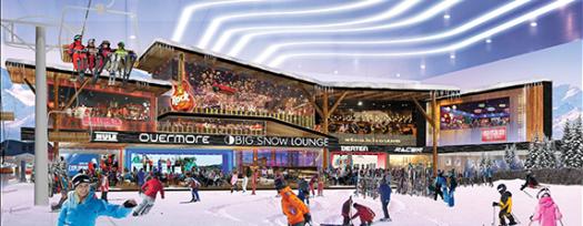 American Dream ski slope interior. Rendering courtesy of American Dream Mall. Indoor ski-slope finally opening within American Dream Mall in October.