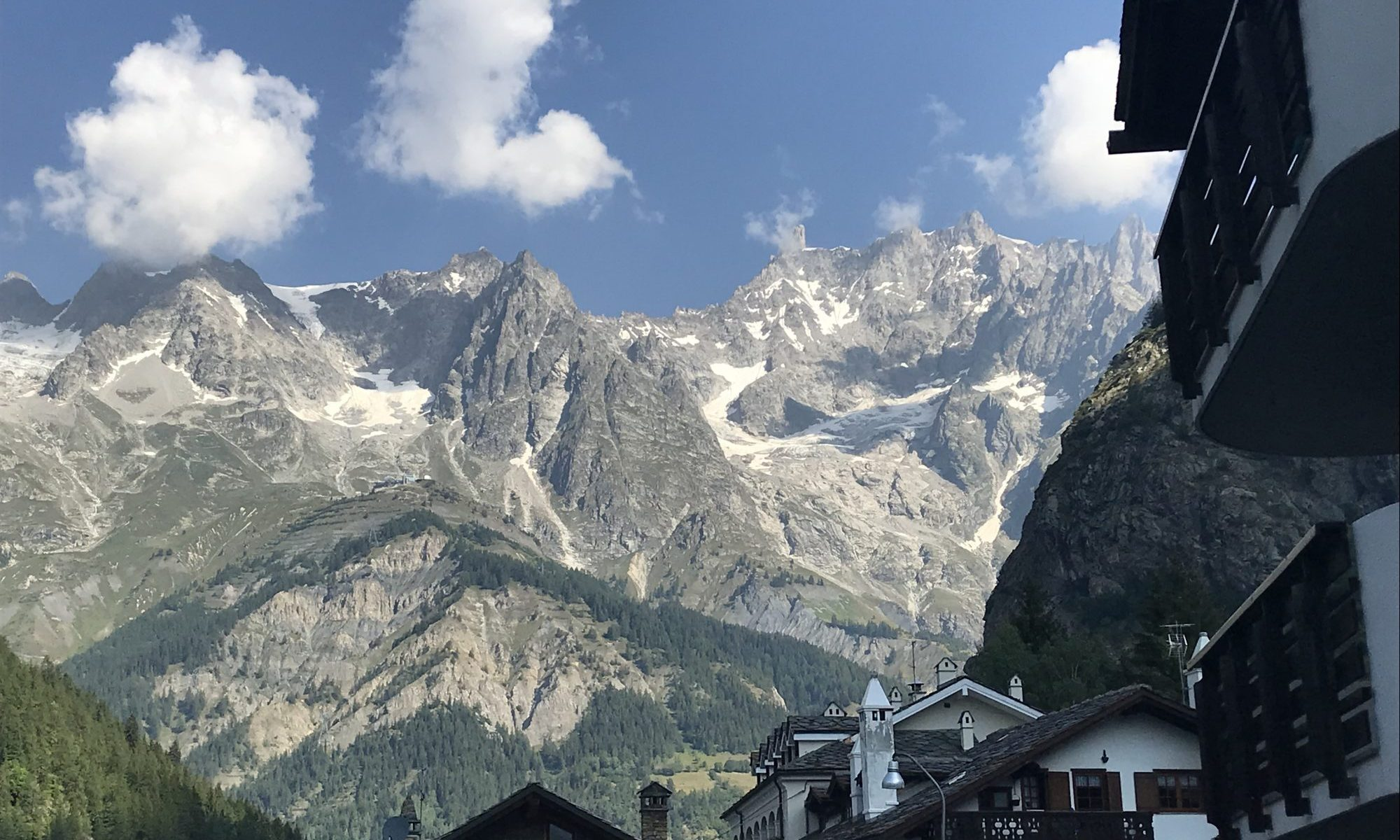 Courmayeur in the summer. Photo: The-Ski-Guru. Our summer in the mountains – one week in Courmayeur.