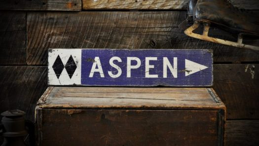 Aspen cabin sign. What to buy to the skier or boarder at heart for Christmas.