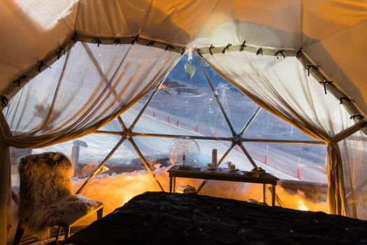 Pashmina's igloo pod. Where to stay. Val Thorens hosts the first stage of the World Cup Ski Cross