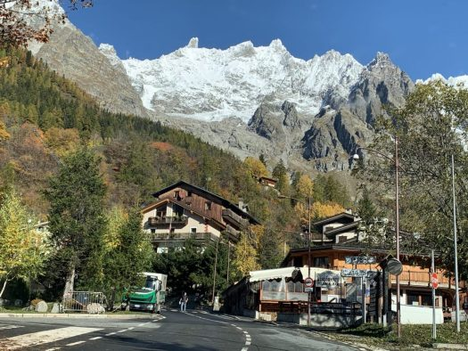 This is why you come to the mountains in summer. The massif of Monte Bianco, seen from Courmayeur Mont Blanc. Photo: The-Ski-Guru. Preparing your summer holidays in Covid-19 times.