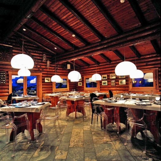 Interior of Ristorante La Grolla A Foodie Guide to on-Mountain Dining in Courmayeur.