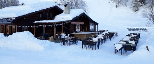 Capitan Des Alpes restaurant. A Foodie Guide to on-Mountain Dining in Courmayeur.