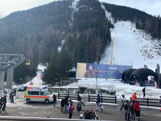 The base area of La Thuile. Our half term ski-safari holiday based in the Valdigne of Aosta Valley- Courmayeur, Pila and La Thuile.