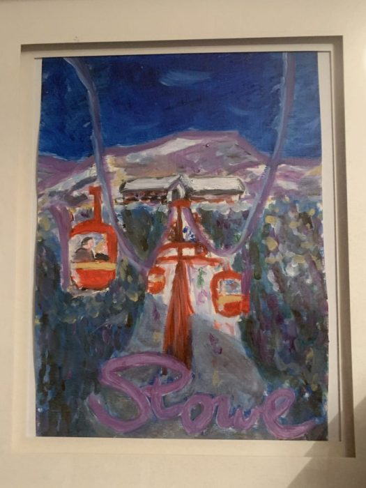 Second oil effort. Stowe. The Art of the Mountains.