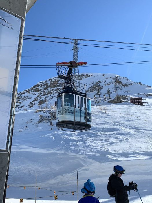 The tin can cable car of Youla. Our half term ski-safari holiday based in the Valdigne of Aosta Valley- Courmayeur, Pila and La Thuile.