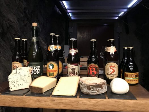Pairing different cheeses from Der Genuss Bunker with local artisan beers. Photo: The-Ski-Guru. A Must-Read Guide to Summer in South Tyrol.