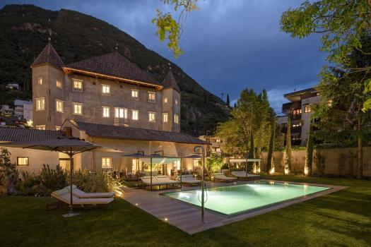 The exterior of the Hotel Castel Hörtenberg. Book your stay at the Castel Hörtenberg here. A Must-Read Guide to Summer in South Tyrol.