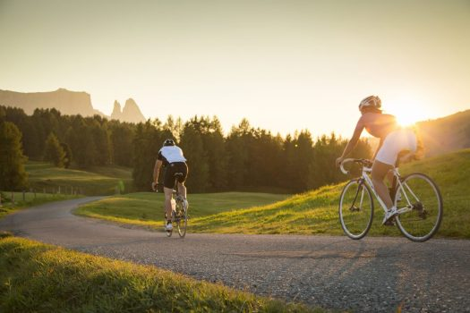 Photo: IDM South Tyrol / Daniel Geiger . A unique experience for passionate cyclists is an evening bike tour over the Alpe di Siusi, the largest alpine pasture in Europe. A Must-Read Guide to Summer in South Tyrol.