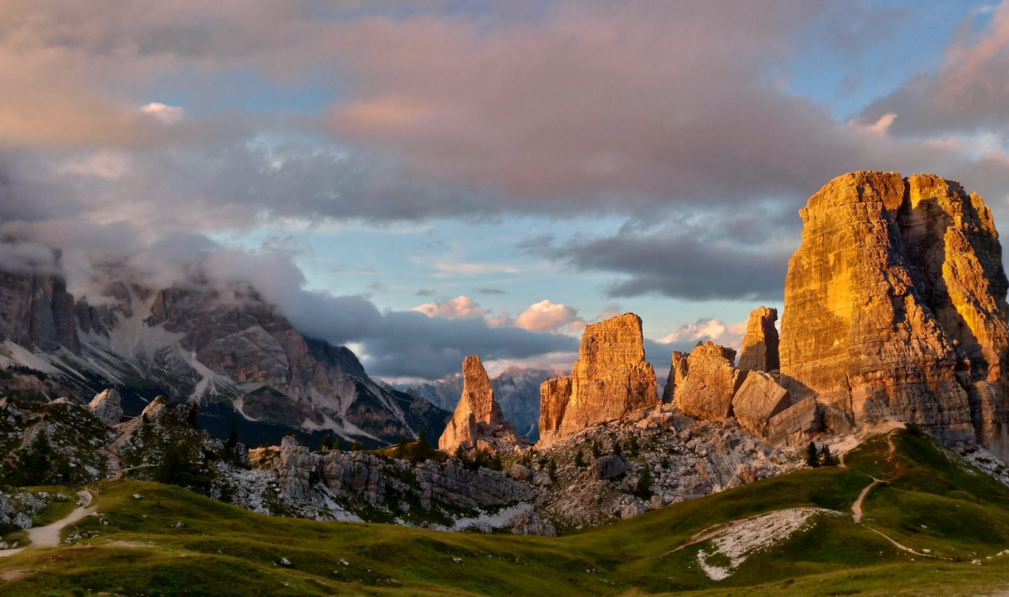 5 Torri. Cortina d'Ampezzo. Credits Luca Menardi. Cortina Marketing. Cortina d'Ampezzo is ready for a new summer season.